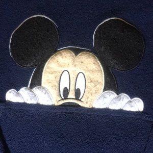 Vintage Mickey Mouse fleece hoodie